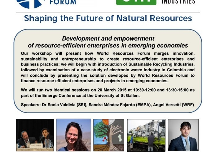 Resource Efficiency in Emerging Countries, WRF Workshop in St. Gallen