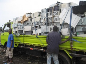 E-waste recycling in Ghana, (c) SRI secondary metals