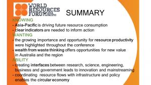 Summary Slide WRF AP 2015