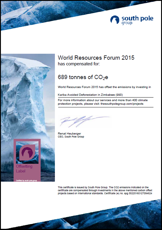 South Pole Certificate-WRF 2015
