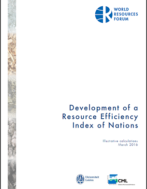 Development of a Resource Efficiency Index of Nations – Illustrative calculations
