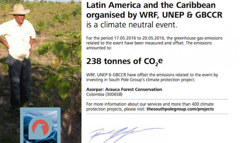 WRF Latin America was Climate Neutral – Emissions Offset in Colombia