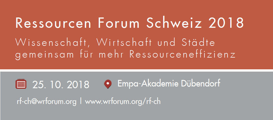 Save the Date: Swiss Resources Forum 2018