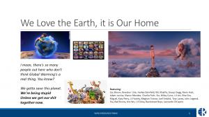 We love the earth